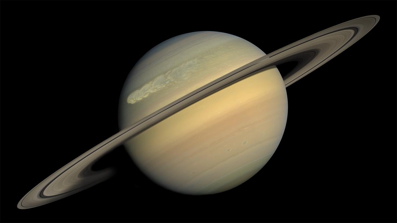 Nasa Viz Saturn S Superstorm