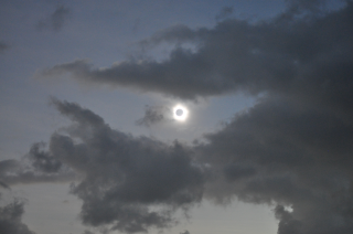 A total solar eclipse was visible from the Northern tip of Australia on Nov. 13, 2012 at 3:35 EST. The light halo visible around the edges of the moon is the sun's atmosphere, the corona. Courtesy of Romeo Durscher