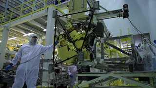 Video of engineers integrating the NIRCam instrument into Webb's ISIM structure at NASA Goddard Space Flight Center.