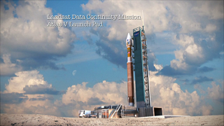 The Landsat Data Continuity Mission (LDCM) will launch from Vandenburg AFB using an Atlas V-401 rocket.  LDCM carries two instruments, the Operational Land Imager (OLI) and the Thermal Infrared Sensor (TIRS).