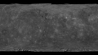 Images taken by MESSENGER's wide-angle camera and narrow-angle camera were used to create this global mosaic of Mercury's surface.