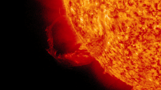 link to gallery item January 31, 2013 CME and Prominence Eruption (2013-01-31)