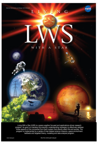 NASA's Living With a Star (LWS) program is a space-weather focused and applications driven research program. Its goal is to develop the scientific understanding necessary to effectively address those aspects of the connected sun—Earth system that directly affect life and society.  The program is implemented by a series of inter-related science missions, space environment testbeds, and a targeted theory, modeling, and data analysis program.  The Van Allen Probes are the second mission in the LWS program. Credit: NASA