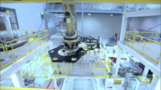 Broll of engineers testing the assembly fixture at NASA Goddard Space Flight Center