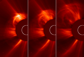 link to gallery item Solar Storm Near Earth Caused by March 15, 2013 Fast CME (2013-03-18)