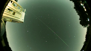 The meteor that created this streak was about an inch in diameter and weighed just 22 grams.