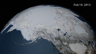 Video highlighting the Arctic sea ice maximum extent for 2013.