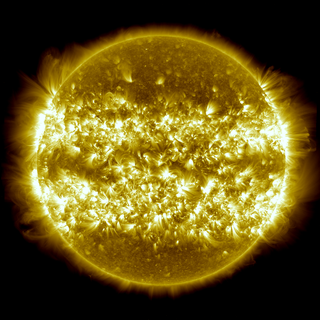 This image, is a composite of 25 separate images spanning the period of April 16, 2012 to April 15, 2013.  It uses the SDO AIA wavelength of 171 Ångströms and reveals the zones on the sun where active regions are most common during this part of the solar cycle.  This version maintains the original aspect ratio of the AIA instrument imagery. Credit: NASA's Goddard Space Flight Center/SDO/S. Wiessinger