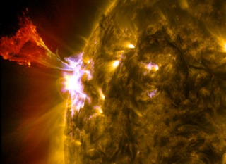 link to gallery item Sun Emits Mid-Level Flare and Prominence Eruption (2013-05-03)