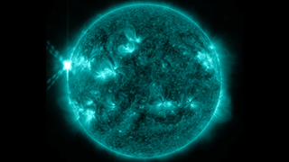 On May 12-13 the sun erupted with an X1.7-class and an X2.8-class flare as well as two coronal mass ejections, or CMEs, off the upper left side of the sun.  Solar material also danced and blew off the sun in what's called a prominence eruption, both in that spot and on the lower right side of the sun.  This movie compiles imagery of this activity from NASA's Solar Dynamics Observatory and from the ESA/NASA Solar Heliospheric Observatory. Credit: NASA/SDO/ESA/SOHO Music: