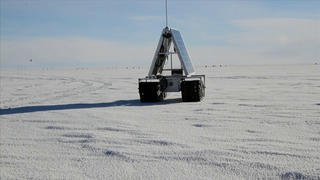 From May 6 to June 8, 2013, GROVER was in Greenland. GROVER, the Goddard Remotely Operated Vehicle for Exploration and Research, also known as the Greenland Rover, was based at Summit Camp on the ice sheet of Greenland. NASA's Dr. Lora Koenig was working with two students from Boise State University, Gabriel Trisca and Mark Robertson, to evaluate the robot for polar research.