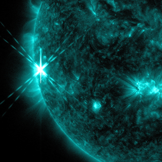 link to gallery item Sun Emits Third Solar Flare in Two Days (2013-10-25)
