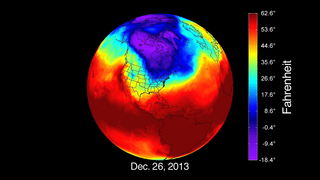 In late Dec. 2013, Arctic air started to move southward due to a low-pressure system that formed over Canada.