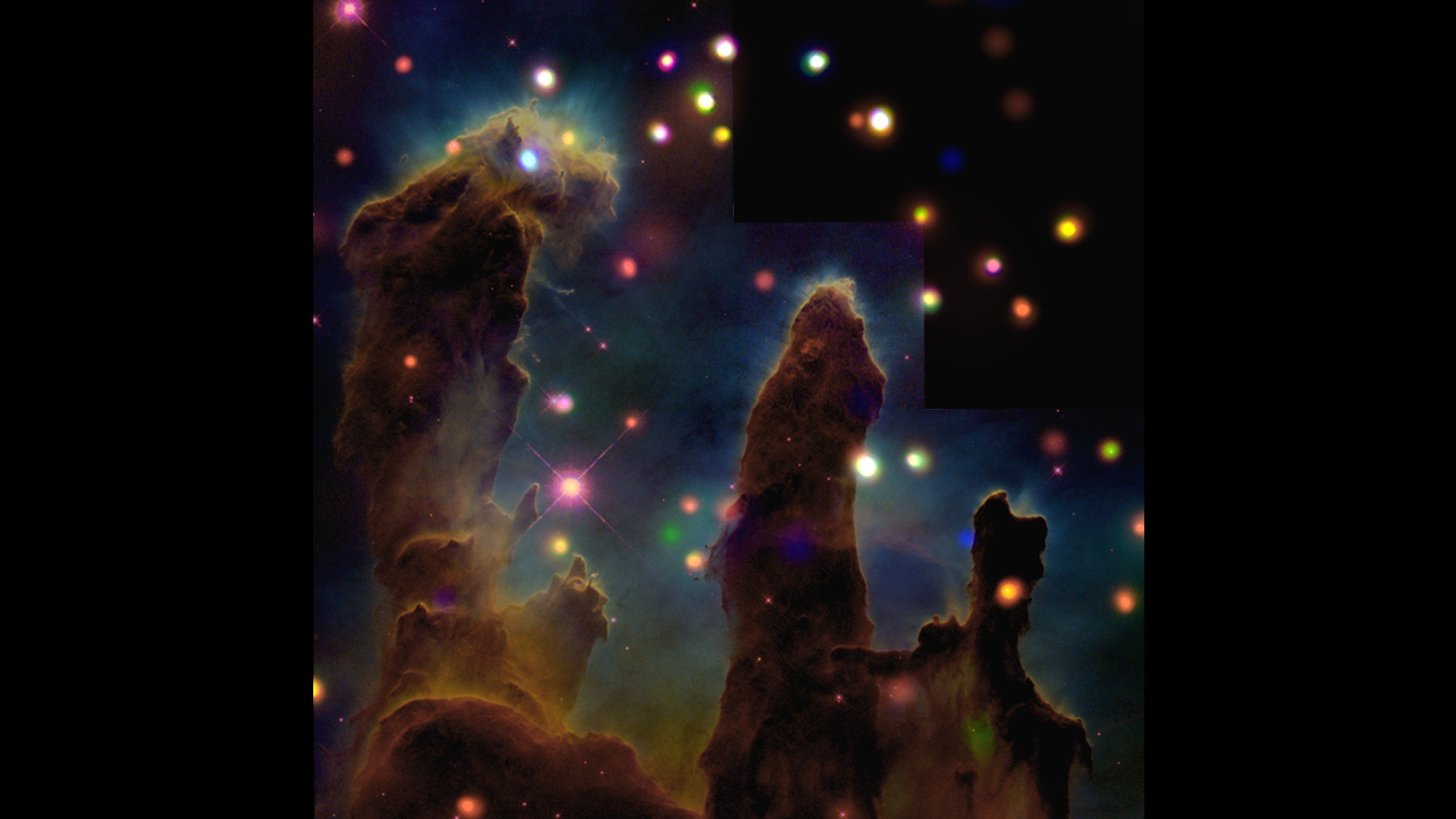 NASA Viz Stellar Nurseries - Nasa release new hd photographs iconic pillars creation photo