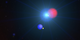 This animation illustrates solar wind charge exchange in action. An atom of interstellar helium (blue) collides with a solar wind ion (red), losing one of its electrons (yellow) to the other particle. As it settles into a lower-energy state, the electron emits a soft X-ray.   Credit: NASA's Goddard Space Flight Center  Watch this video on the  NASAgovVideo YouTube channel .