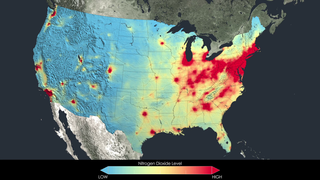 Link to Related Story entitled: NASA Images Highlight U.S. Air Quality Improvement – Release Materials