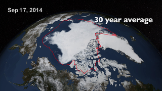 Link to Recent Story entitled: NASA On Air: Arctic Sea Ice Reaches Annual Minimum (9/22/2014)