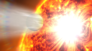 Link to Related Story entitled: Eroding Exoplanet