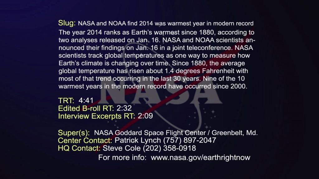 Gms 2014 Global Temperature Announcement Live Shot Page