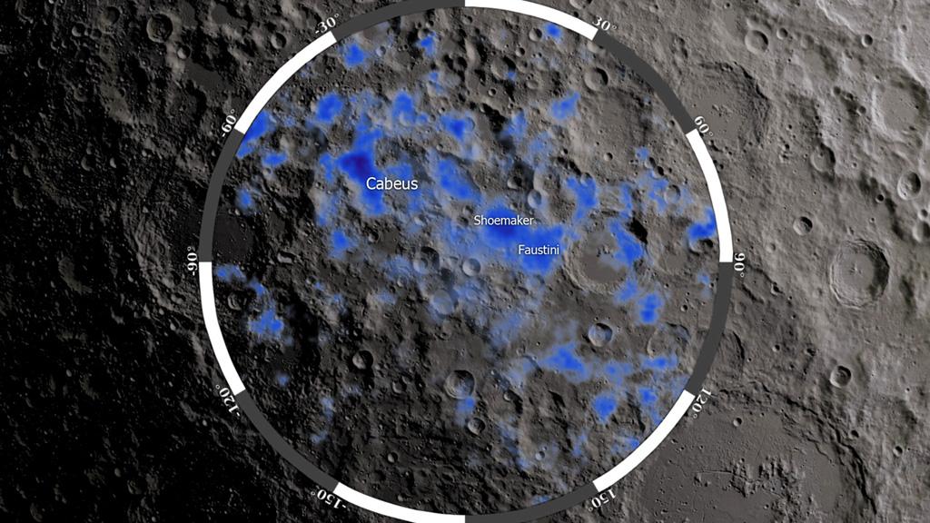 NASA Viz: Water On The Moon