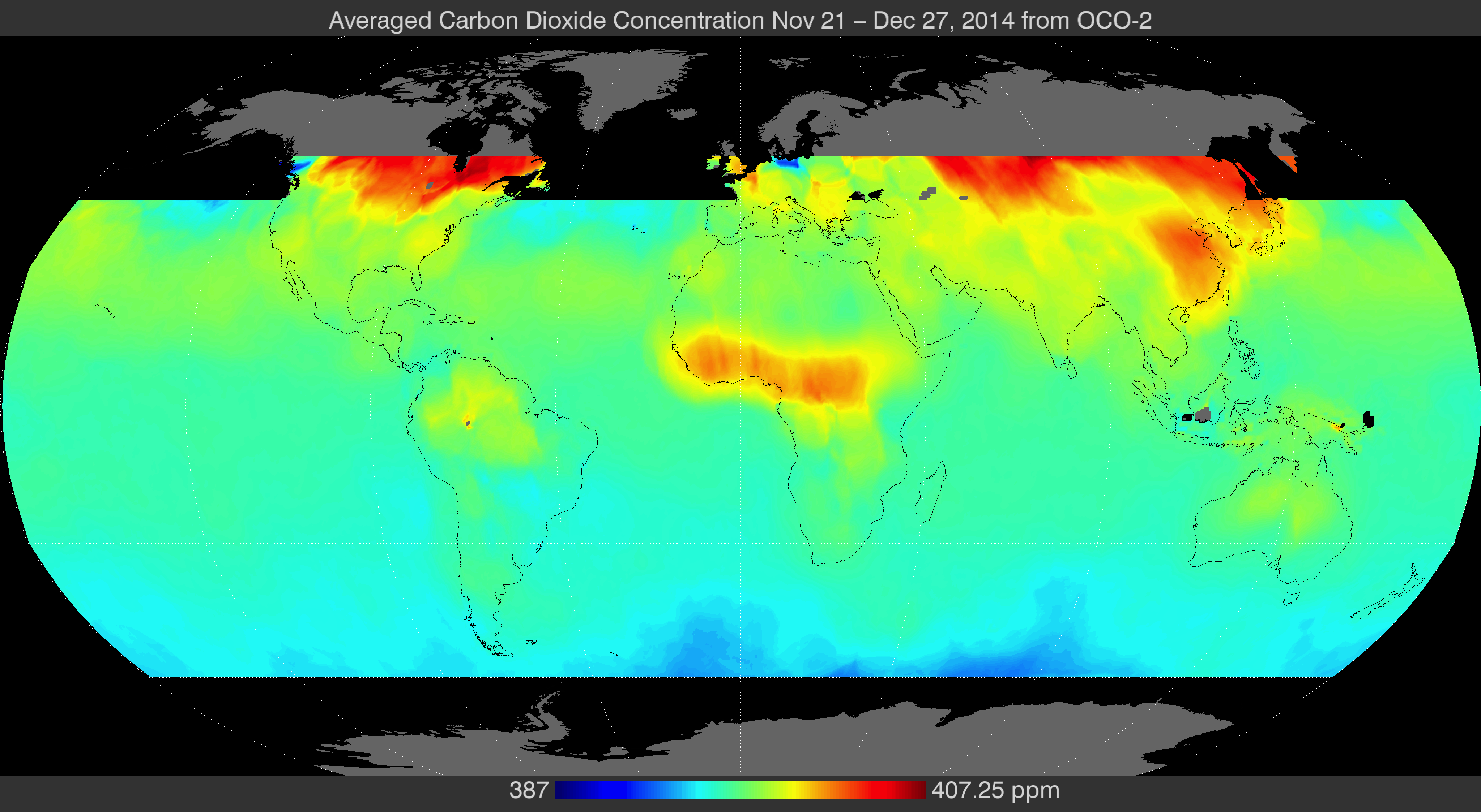 Finally: visualized OCO2 satellite data showing global