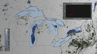 Link to Recent Story entitled: NASA On Air: Great Lakes Ice Time Lapse - Winter 2013 to 2014 (3/25/2015)