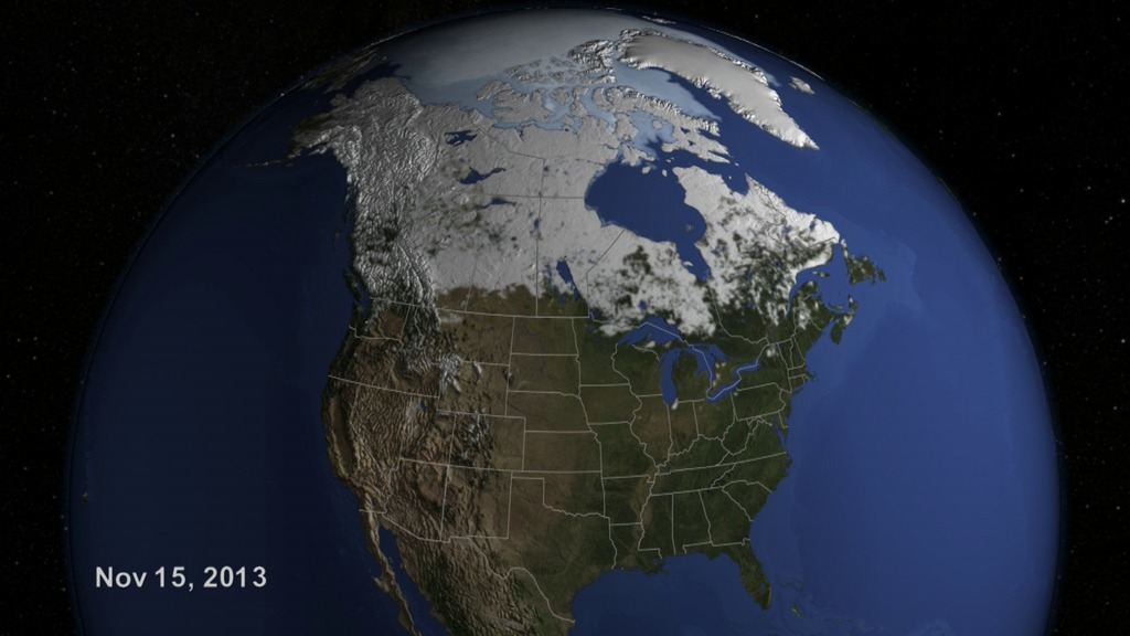 Gms nasa on air us snow cover time lapse winter 2013 to 2014 download sciox Gallery