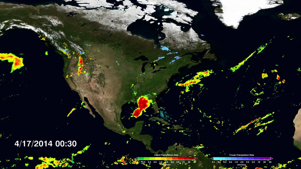 GMS NASA On Air NASAs GPM Core Satellite Mission Provides - World wide satellite weather map