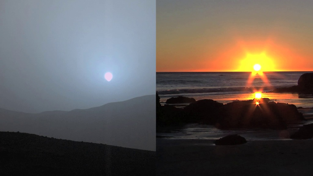 El espectro de luz es diferente al de la Tierra