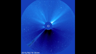 Link to Recent Story entitled: Space Weather Imagery of June 22 - 23, 2015 Events