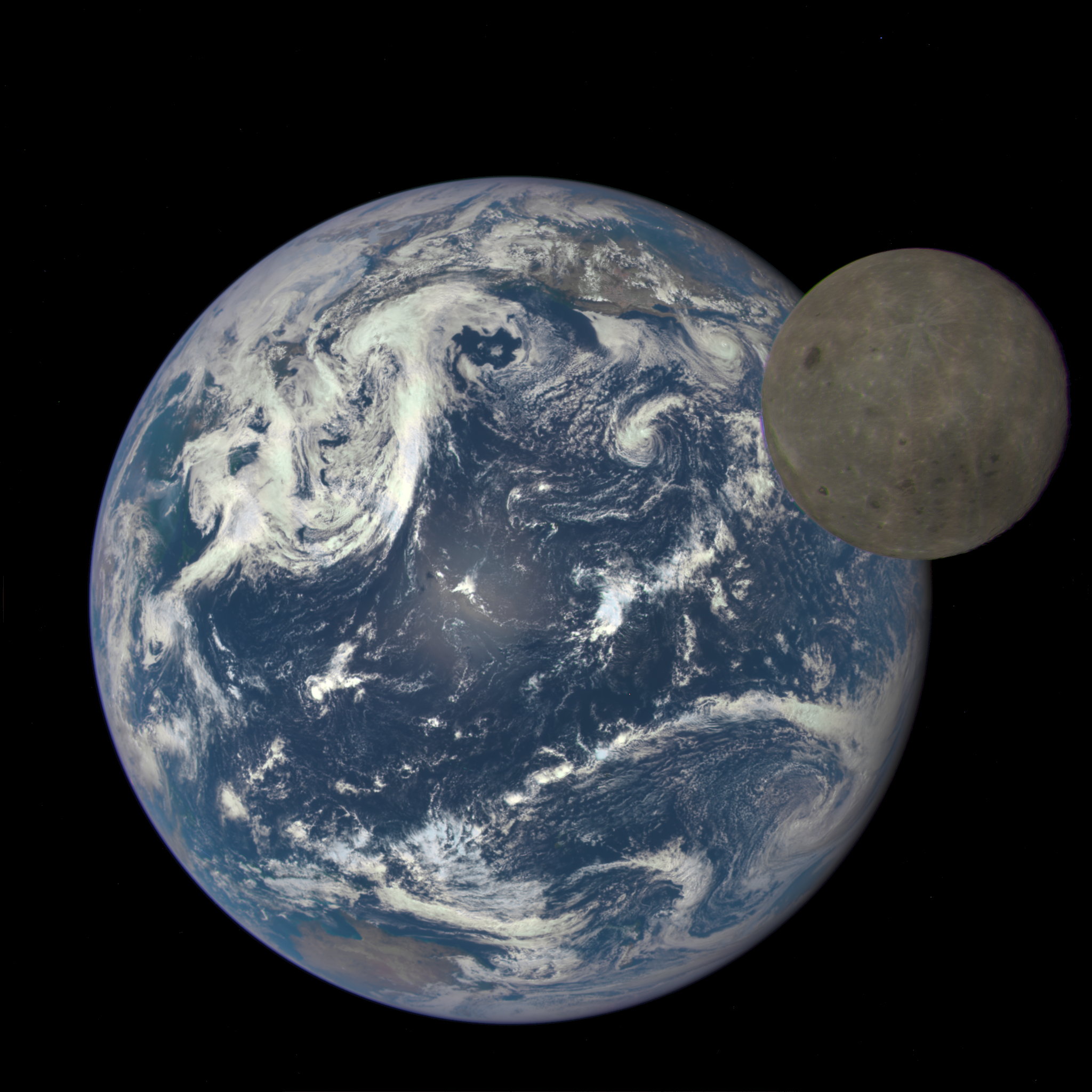GMS: From a Million Miles Away, NASA Camera Shows Moon ...