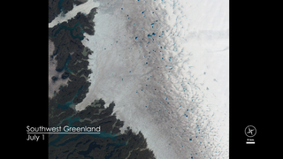 Link to Recent Story entitled: Lakes On A Glacier