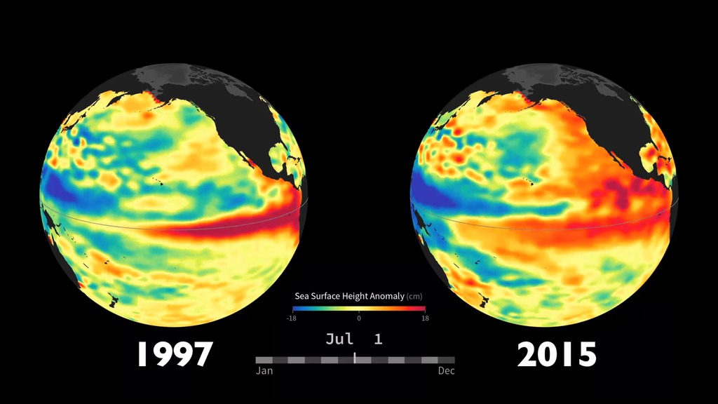 GMS NASA On Air NASA Satellites Are Tracking Current El Niño - Recent satellite pictures