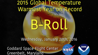 Link to Related Story entitled: NASA/NOAA 2015 Global Temperature Live Shots