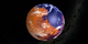 Artist concept image of an early wet Mars.