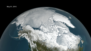 Link to Recent Story entitled: NASA On Air: 2016 Arctic Sea Ice Minimum Ties Second Lowest On Record (9/15/2016)
