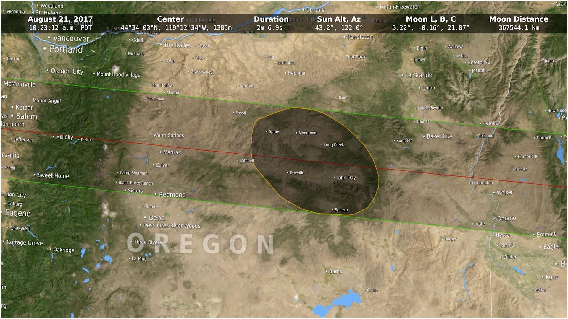 Svs umbra shapes tracing the 2017 solar eclipse publicscrutiny Images
