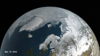 Link to Recent Story entitled: A New Forecast Model Predicts Arctic Sea Ice Extent
