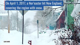 Link to Recent Story entitled: NASA Catches April 1 Nor'easter over New England