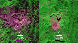 Link to Recent Story entitled: Landsat Tracks Mount St. Helens Recovery