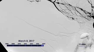Link to Recent Story entitled: Crack in Larsen C Ice Shelf