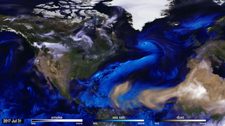 Link to Related Story entitled: 2017 Hurricanes and Aerosols Simulation