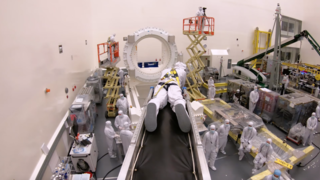 Link to Recent Story entitled: Webb Unpacked and Mounted in Nothrop Grumman Cleanroom