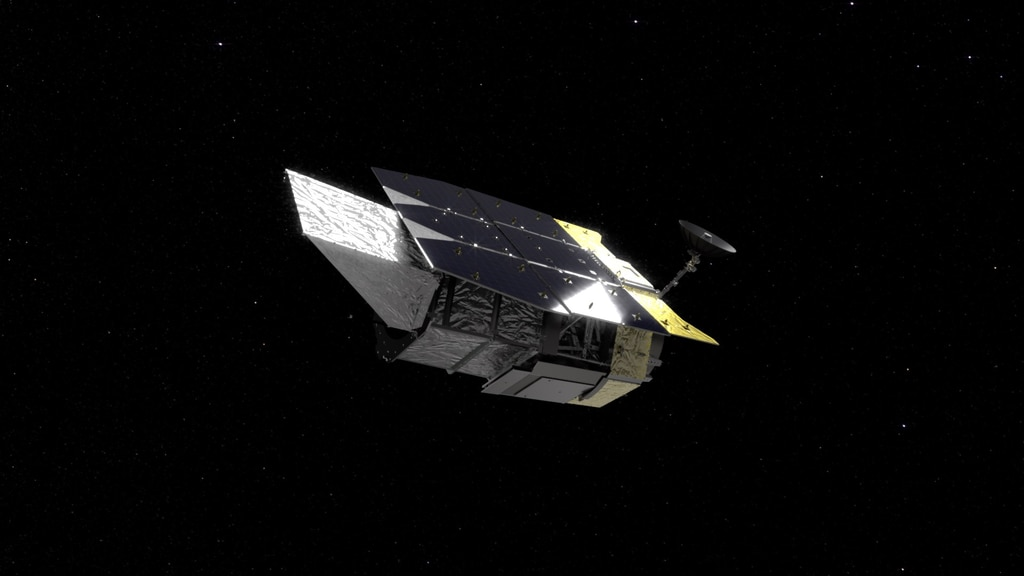 """Beauty pass"" animation of the Roman Space Telescope spacecraft"