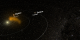 View of the Solar System, showing the Sun, Jupiter and Saturn
