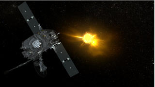 The Sun belches out gas at thousands of kilometers per second as the STEREO A spacecraft looks on.