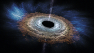 Link to Recent Story entitled: Massive Black Hole Shreds Passing Star (Animation Only)