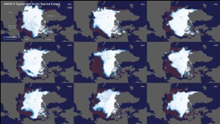 Link to Recent Story entitled: AMSR-E Sea Ice
