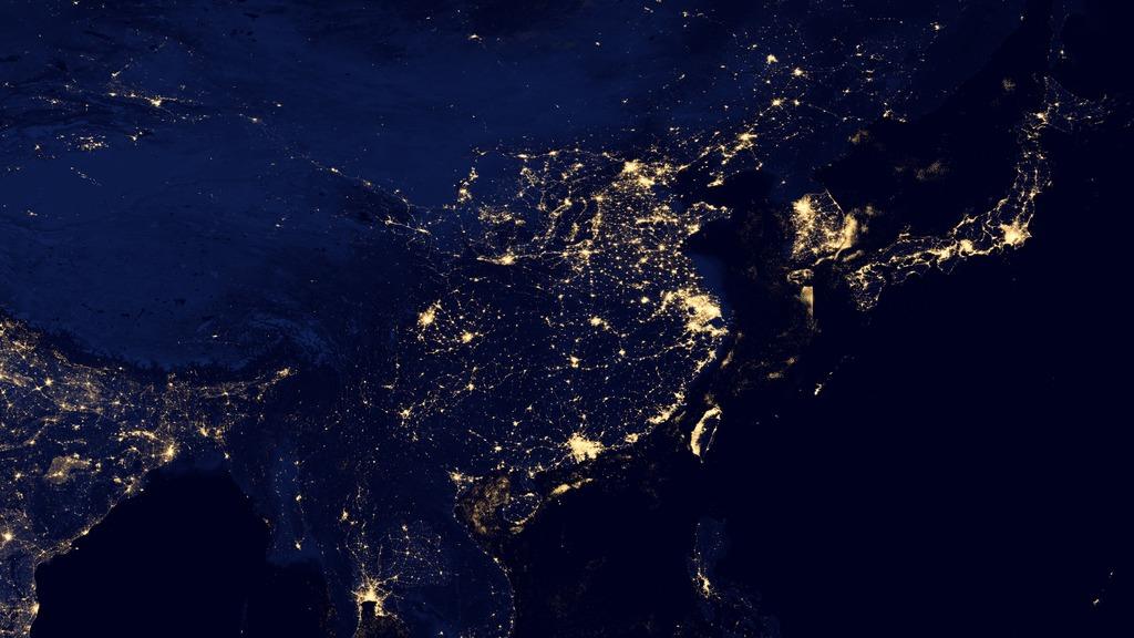 Hyperwall: Earth at Night 2012