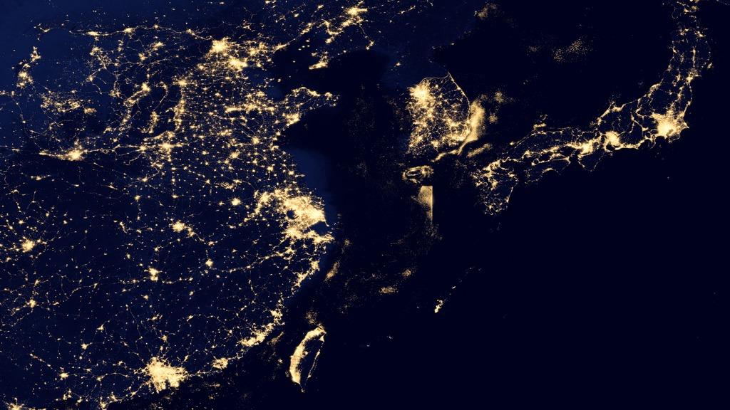 Hyperwall Earth At Night 2012